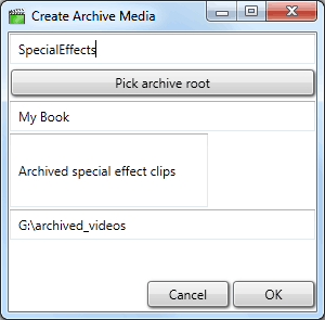 Create a new logical archive media
