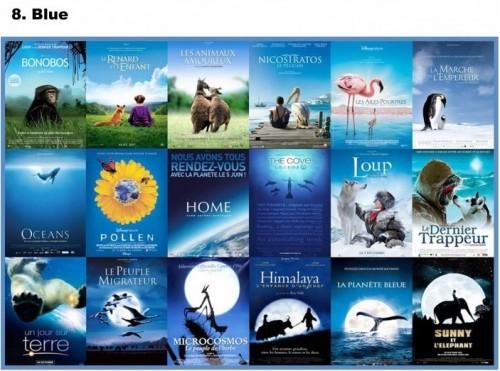 Blue video covers. Image by brett jordan