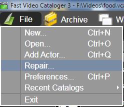 Selecting the repair tool