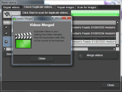 Duplicate videos have been merged