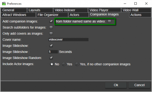 You can now add companion files from subfolders with the same name as the video file.